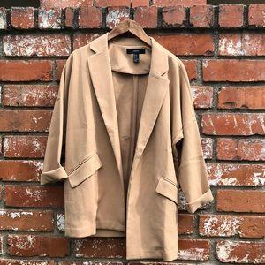 Oversized tan blazer